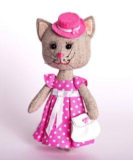 Набор для изготовления текст. игрушки Тётя Кошка