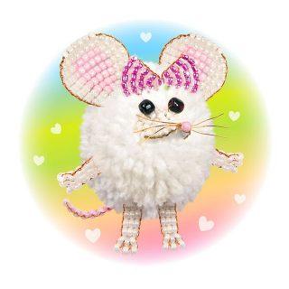 Набор для тв-ва Фигурка из пряжи Маленькая мышка