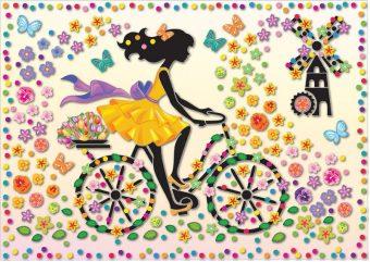 Набор для изг-ния картины Ма Шер Девушка на велосипеде