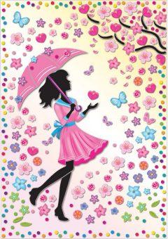 Набор для изг-ния картины Мон Амур Девушка под зонтом