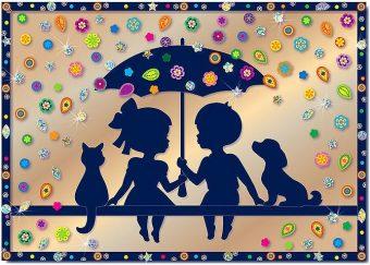 Набор для изг-ния картины Под зонтом