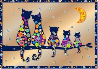 Набор для изг-ния картины Семья котов