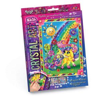 Набор креативного тв-ва Crystal Art Пони и радуга