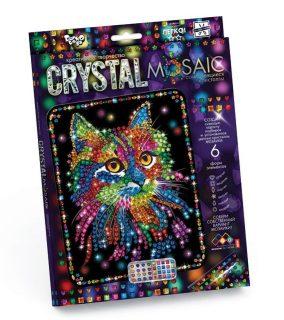Набор креативного тв-ва Crystal Mosaic Кот