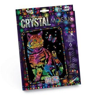Набор креативного тв-ва Crystal Mosaic Кот с бабочкой