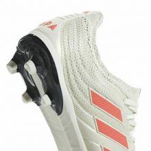 Детские футбольные бутсы adidas Copa 19.1 FG белые с красным