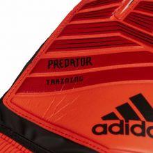Вратарские перчатки adidas Predator TRN красные с чёрным
