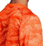 Детский вратарский свитер adidas AdiPro 18 c длинным рукавом оранжево-серый