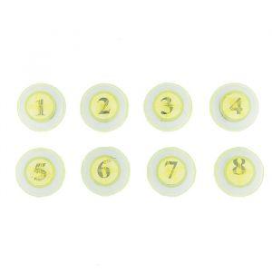 """Магнит пластик """"Циферки"""" набор 8 шт 3,5х3,5 см 2272592"""