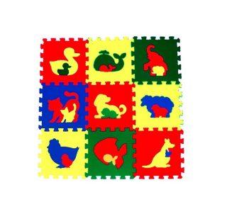 Мягкий пол универсальный Животные 9 дет (1 дет - 33*33 см), в асс-те