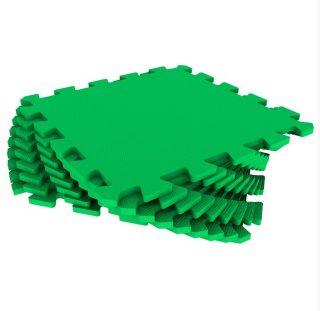 Мягкий пол универсальный зеленый 9 дет (1 дет - 33*33 см)