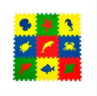 Мягкий пол универсальный Морские Животные 9 дет (1 дет - 33*33 см), в асс-те