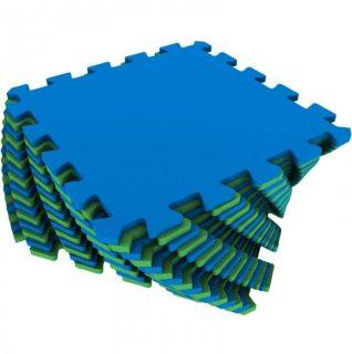 Мягкий пол универсальный сине-зеленый 16 дет (1 дет - 25*25 см)