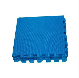Мягкий пол универсальный синий 9 дет (1 дет - 33*33 см)