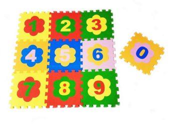 Мягкий пол универсальный Цифры 10 дет (1 дет - 33*33 см), в асс-те