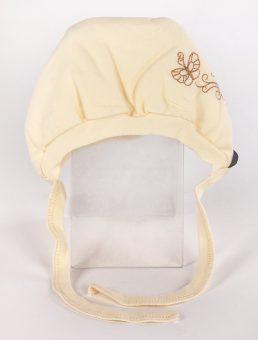 Чепчик с вышивкой р.40 желтый