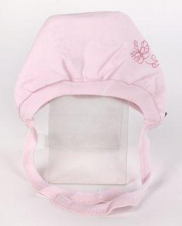 Чепчик с вышивкой р.40 розовый