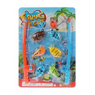 Игровой набор Рыбалка ,2 удочки  + 6 фигурок, блистер
