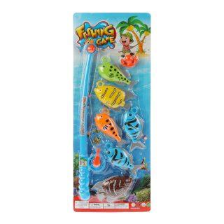 Игровой набор Рыбалка ,удочка  + 6 фигурок, блистер