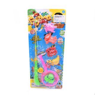 Игровой набор Рыбалка магн.,  удочка  + сито + 5 фигурок, блистер