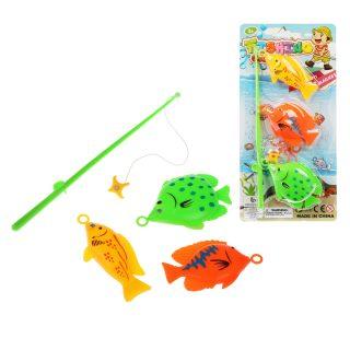 Игровой набор Рыбалка удочка+3 фигурки, блистер