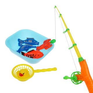 Набор Рыбалка магн. 5 фигурок + удочка + 2 емкости, в ассорт., пакет