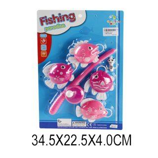 Набор Рыбалка с крючком розовая, блистер