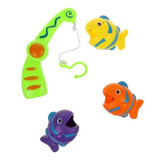 Набор Рыбалка, 3 фигурки + удочка, пакет