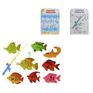Набор Рыбалка, удочка + 8 фигурок, блистер