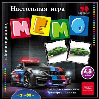 НИ МЕМО 36 карточек Автомобили мира