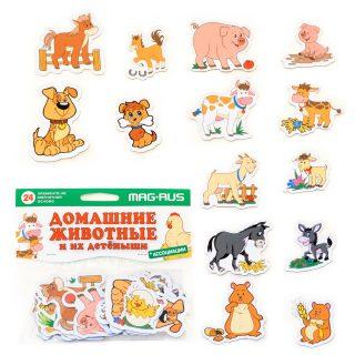 Игра магнитная Домашние животные и их детеныши, 24 эл-та