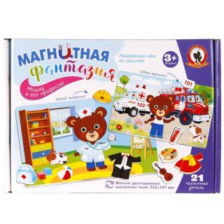 Развивающая игра на магнитах Мишка и его профессии