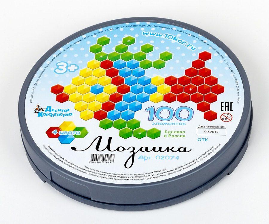 Мозаика шестигранная 100 эл