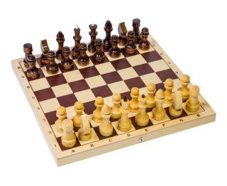 Шахматы обиходные лакированные дерев. 290*145*38