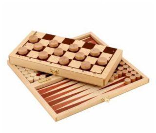 Игра Два в одном Шашки+Нарды деревянные
