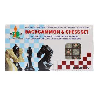 НИ 2в1 шахматы, шашки, игр.поле 25*24.5см, кор.