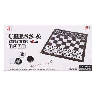 НИ 2в1 Шахматы, шашки, поле 30*30 см, кор.