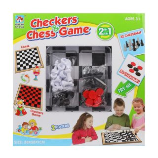 НИ 2в1 Шахматы, шашки, поле 38*38 см, кор.