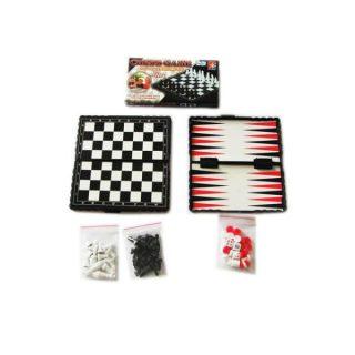 НИ 3в1 Шашки, шахматы, нарды, поле 13*13см, кор
