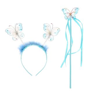 """Карнавальный набор """"Бабочка"""", ободок и палочка, в ассорт."""
