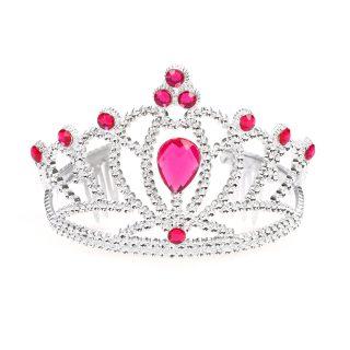 """Корона """"Принцессы"""" с камнями, малин."""