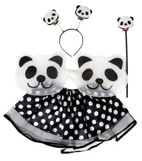 Костюм Панда, юбка 27 см, крылья 20х50 см, ободок, палочка