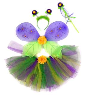 Костюм Страна эльфов, фиолет., крылья 47х35 см, юбка 25 см, ободок, палочка