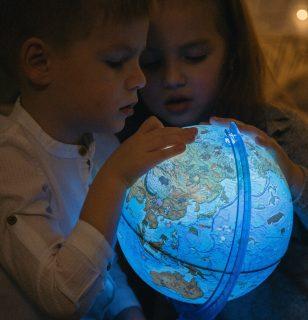 Глобус Зоогеографический (Детский), D-210 мм, с подсветкой от батареек