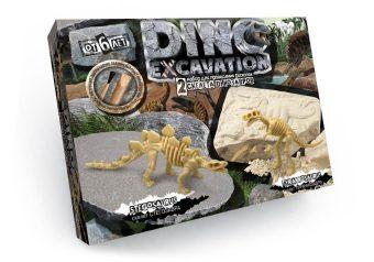 Набор для проведения раскопок Dino Excavation Динозавры (Стегозавр и Тираннозавр)