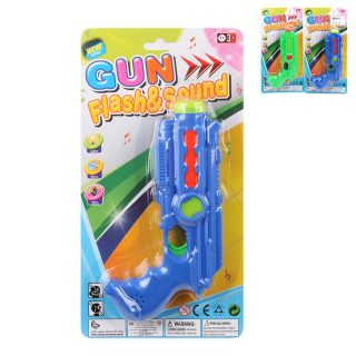 Пистолет эл., звук, свет, эл.пит.АА*2шт.не вх.в комплект, блистер