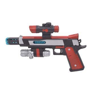 Пистолет эл., свет, звук, вибрация, эл.пит.АА*3шт.не вх.в комплект