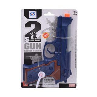 Пистолет эл., свет, звук, эл.пит.AG10*3шт.не вх.в комплект