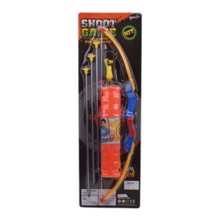 Игр.набор Охотник, в комплекте лук, стрелы с присосками 3шт., держатель для стрел