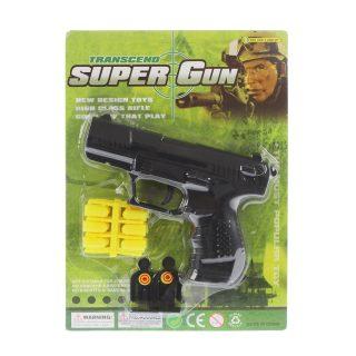Пистолет мех., в комплекте: пули 12шт., мишени 2шт., блистер